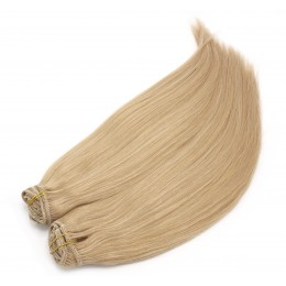 16 inch (40cm) Deluxe clip in human REMY hair - natural blonde