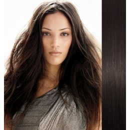 20 inch (50cm) Tape Hair / Tape IN human REMY hair - natural black