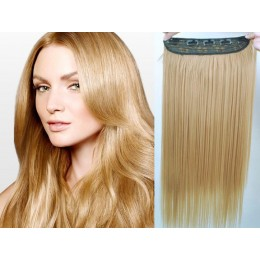 24 inches one piece full head 5 clips clip in hair weft extensions straight – light brown