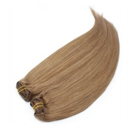 20 inch (50cm) Deluxe clip in human REMY hair - light brown